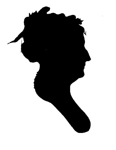 Silhouette of Henrietta Margaret Hill Ogle, City of Bowie Museums