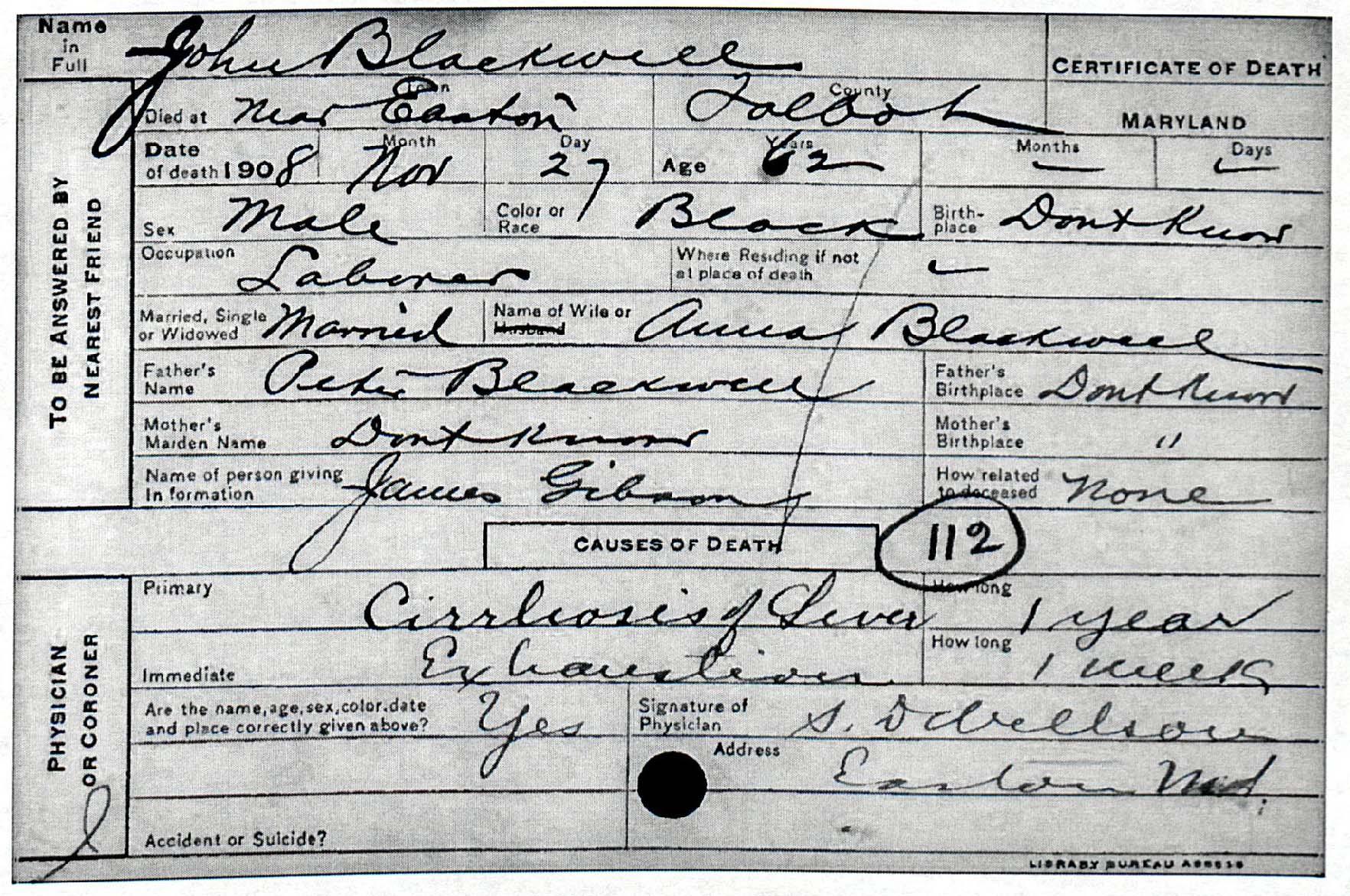 Fresh photograph of maryland birth certificate business cards john blackwell msa sc 5496 aiddatafo Gallery