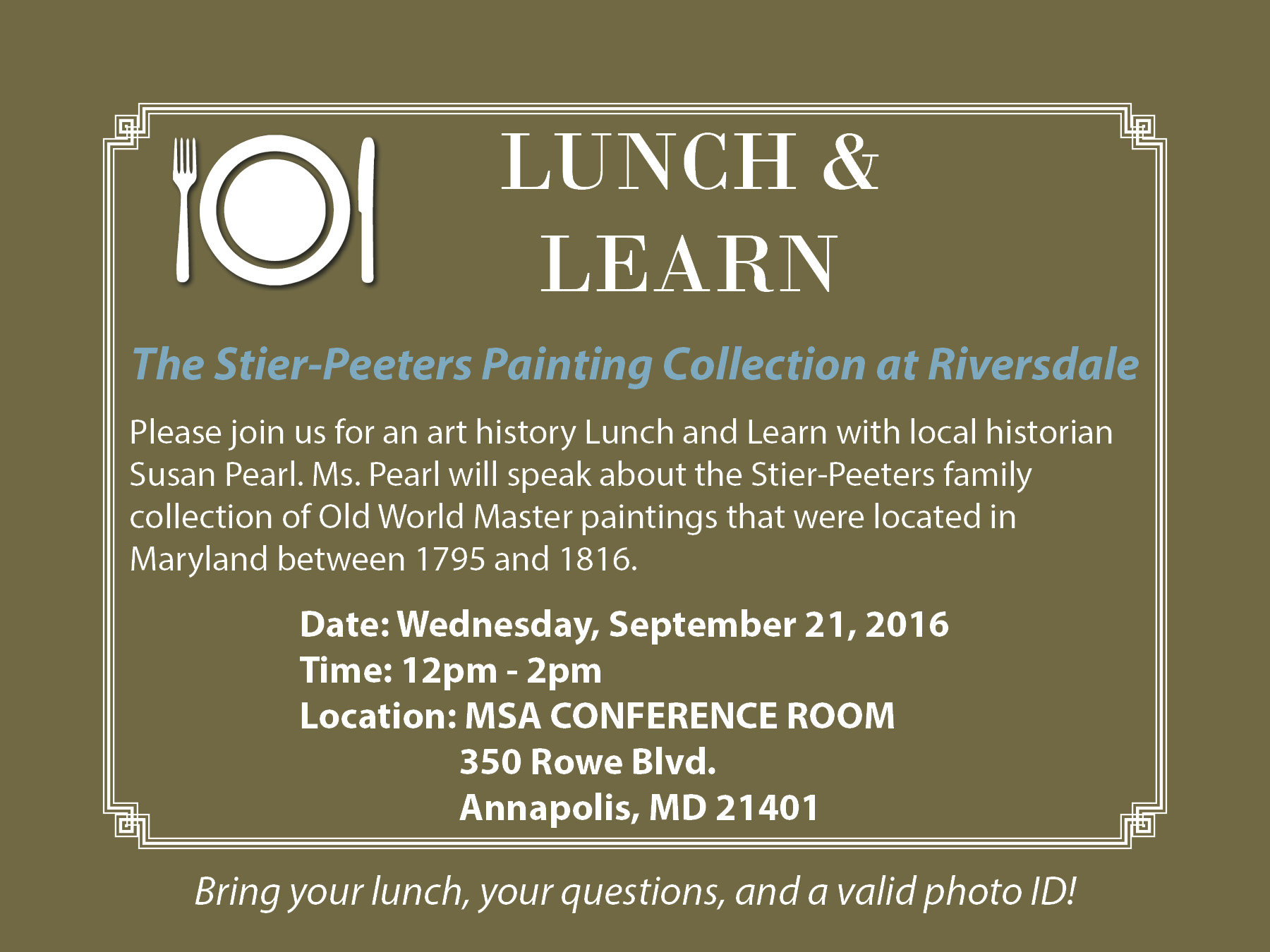 September Lunch and Learn
