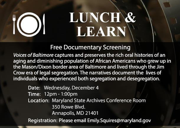 Free Event at the Archives - Documentary about Segregation