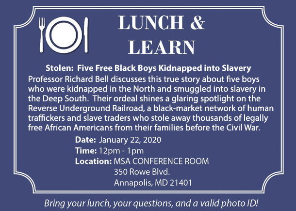 Free Event at the Archives - Slavery Lecture