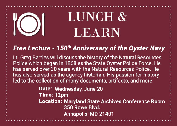 Lunch and Learn Free Lecture at the Archives on June 20 at Noon