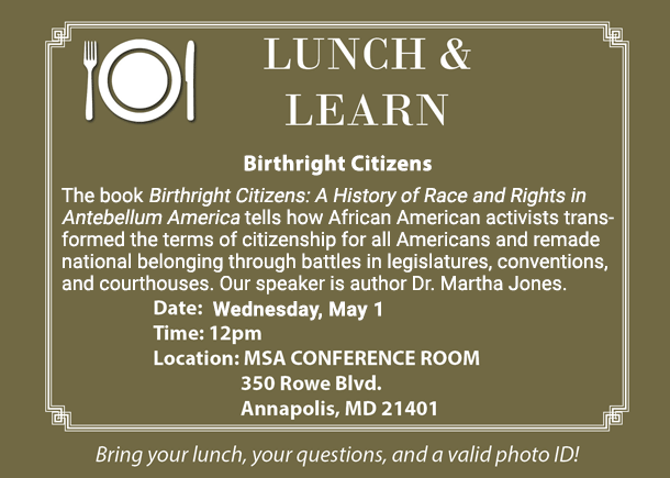 Free Event at the Archives - Meet the Author of the book Birthright Citizens