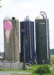 [photo, Silos on Kilby Cream Farm, 129 Strohmaier Lane, Rising Sun, Maryland]