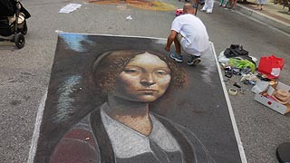 [photo, Madonnari Arts Festival, Little Italy, South High St., Baltimore, Maryland]
