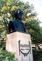[photo, Chapin A. Harris (1806-1860) Monument (1922), by Edward Berge, Wyman Park Drive & 31st St., Baltimore, Maryland]