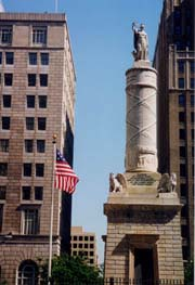 [photo, Battle of North Point Monument by Italian sculptor Antonio Capellano, Calvert and Fayette Sts., Baltimore, Maryland]