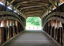 [photo, Interior of Gilpin's Falls Covered Bridge, North East (Cecil County), Maryland]