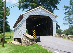 [photo, Utica Mills Covered Bridge, Fishing Creek (Frederick County), Maryland]
