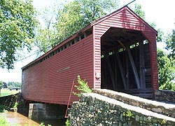 [photo, Loy's Station Covered Bridge, Owens Creek (Frederick County), Maryland]