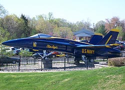 [photo, U.S. Navy Blue Angel, Navy-Marine Corps Memorial Stadium, 550 Taylor Ave., Annapolis, Maryland]