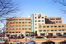 [photo, Sajak Pavilion, Anne Arundel Medical Center, Medical Parkway, Annapolis, Maryland]