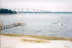 [photo, Governor Thomas Johnson Memorial Bridge over Patuxent River (view from St. Mary's County shore), Maryland]