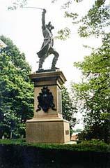 [photo, Baron DeKalb statue, by Ephraim Keyser, State House grounds, Annapolis, Maryland]