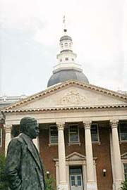 [photo, Thurgood Marshall statue before State House, Annapolis, Maryland]