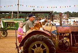 [photo, Tractor exhibition, Cecil County Fair, Fair Hill, Maryland]