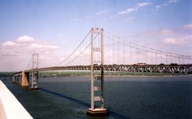 [photo, Chesapeake Bay Bridge westbound span, Maryland]