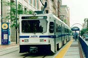[photo, Light Rail Train, Baltimore, Maryland]