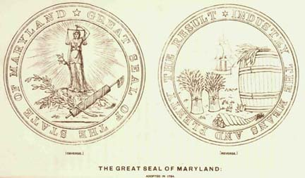 [Maryland Seal of 1794, designed by Charles Willson Peale]