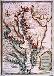 [map of Virginia and Maryland, by Emmanuel Bowen, 1747 [1752]]