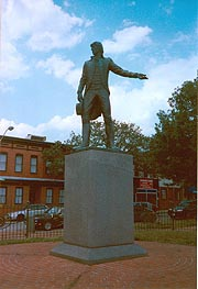 [photo, Capt. John O'Donnell statue (1980), by Tylden Streett, O'Donnell Square. Canton, Baltimore, Maryland]