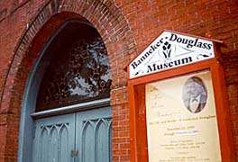 [photo, Banneker-Douglass Museum entrance, 84 Franklin St., Annapolis, Maryland]