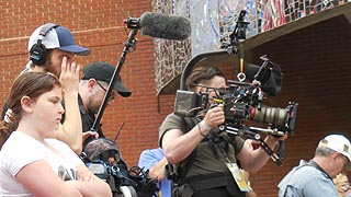 [photo, Video camera crew, American Visionary Art Museum, 800 Key Highway, Baltimore, Maryland]