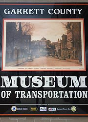 [photo, Garrett County Museum of Transportation poster, 112 East Liberty St., Oakland, Maryland]