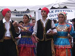[photo, Greek Folk Festival, St. Nicholas Greek Orthodox Church, South Ponca St., Baltimore, Maryland]