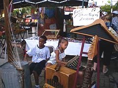 [photo, Young musicians, Baltimore Farmers' Market, near Holliday St., Baltimore, Maryland]