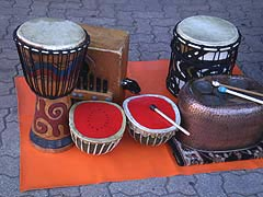 [photo, Drums, Baltimore Farmers' Market, Holliday St. and Saratoga St., Baltimore, Maryland]