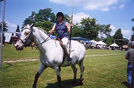 [photo, Jouster at St. Margaret's, Annapolis, Maryland, July 2005]