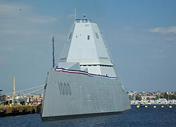 [photo, USS Zumwalt (DDG 1000), North Locust Point, Port of Baltimore, Baltimore, Maryland]