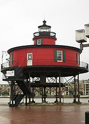 [photo, Seven-Foot Knoll Lighthouse (Historic Ships in Baltimore), Inner Harbor, Baltimore, Maryland]
