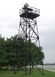[photo, Fort McHenry Channel Range Front Light, Fort McHenry National Monument and Historic Shrine, Baltimore, Maryland]