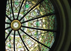 [photo, Tiffany skylight, Miller Senate Office Building, 11 Bladen St., Annapolis, Maryland]