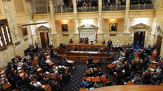 [photo, House of Delegates Chamber, State House, Annapolis, Maryland]