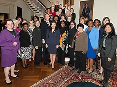 [photo, Women Legislators of Maryland with Governor Martin O'Malley at Government House, Annapolis, Maryland]