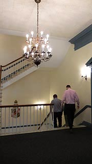 [photo, Legislative Services Building, 1st floor stairwell, 90 State Circle, Annapolis, Maryland]