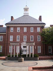 [photo, Legislative Services Building (view from Lawyers Mall), Annapolis, Maryland]