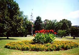 [photo, Garden near Goldstein Treasury Building (view from Rowe Blvd.), Annapolis, Maryland]