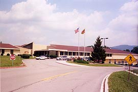 [photo, Thomas B. Finan Hospital Center, 10102 Country Club Road, Cumberland, Maryland]