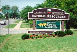 [photo, Department of Natural Resources sign, Taylor Ave., Annapolis, Maryland]