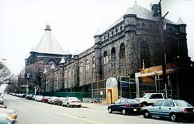 [photo, Metropolitan Transition Center (formerly Maryland Penitentiary), view from lower Forrest St., Baltimore]