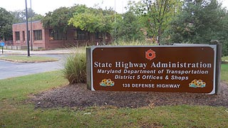 [photo, State Highway Administration, District 5 Offices, 138 Defense Highway, Annapolis, Maryland]