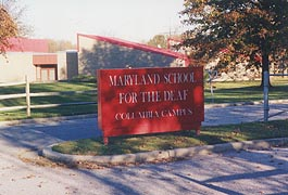 [photo, Maryland School for the Deaf, Columbia Campus entrance, Columbia, Maryland]