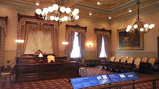 [photo, Old 19th-Century House of Delegates Chamber, State House, Annapolis, Maryland]