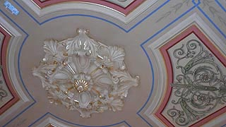 [photo, Ceiling design, Old 19th-Century House of Delegates Chamber, State House, Annapolis, Maryland]