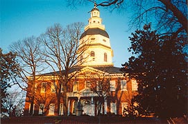[photo, State House (from Maryland Ave.), Annapolis, Maryland]