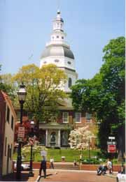 [photo, State House (from Francis St.), Annapolis, Maryland]